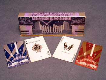 DOUBLE DECK 1933 WORLD'S FAIR PLAYING CARDS