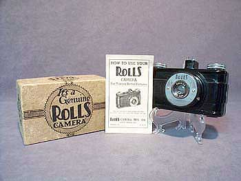 MINT GENUINE ROLLS CAMERA WITH BOX & BOOK
