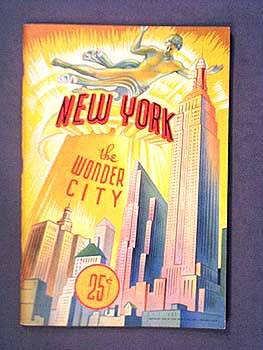 1939 NEW YORK - THE WONDER CITY - PICTURE BOOK