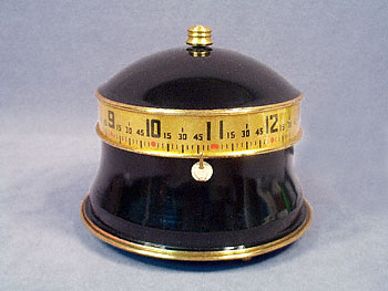 BLACK AND GOLD TAPE MEASURE ELECTRIC CLOCK
